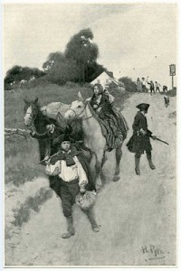 Poignant Howard Pyle Drawing of Loyalists Being Exiled to Canada