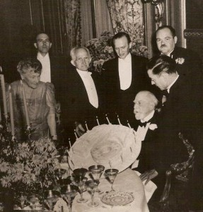 "One of the Famous Birthday Parties with the younger Giraud (""Boy"") Standing Behind his Father"