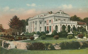 Postcard of Bellefontaine in all its Glory - Rear Entrance