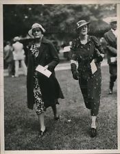 Ever the Sportswoman, Margaret (Left) at Saratoga