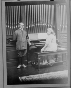 Mr. and Mrs. Paterson at Their Large Organ