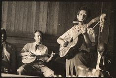 Woody Guthrie and Pete Seeger at the Lenox Jazz Festival