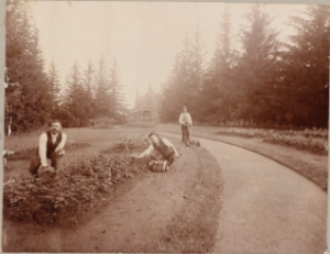 Gardeners at Ventfort Hall