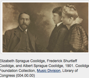 Frederick Coolidge, Albert Coolidge and Elizabeth Coolidge - 1901
